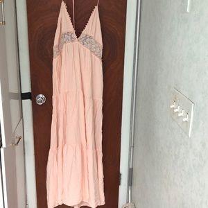 STREETWEAR SOCIETY Pink Maxi Dress Size XL